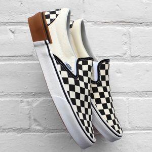 NWT Vans Checkerboard Slip On Sneaker, W8, M6.5